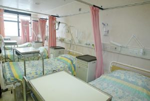 A typical ward in a public hospital