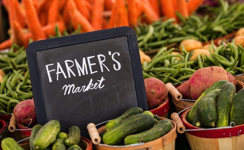 Fresh organic produce on sale at the local farmers market. ** Note: Soft Focus at 100%, best at smaller sizes